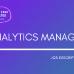 Analytics Manager Job Description Template,Analytics Manager JD,Free Job Description,Job Description Template,job posting