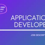Application Developer Job Description Template,Application Developer JD,Free Job Description,Job Description Template,job posting
