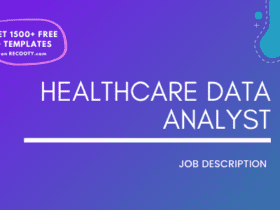 Healthcare Data Analyst Job Description Template,Healthcare Data Analyst JD,Free Job Description,Job Description Template,job posting