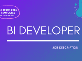 BI Developer Job Description Template,BI Developer JD,Free Job Description,Job Description Template,job posting