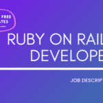 Ruby on Rails Developer Job Description Template,Ruby on Rails Developer JD,Free Job Description