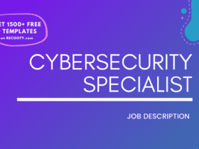 Cyber Security Specialist Job Description Template,Cyber Security Specialist JD,Free Job Description,Job Description Template, job posting