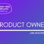 Product Owner Job Description Template,Product Owner JD, Free Job Description,Job Description Template,job posting