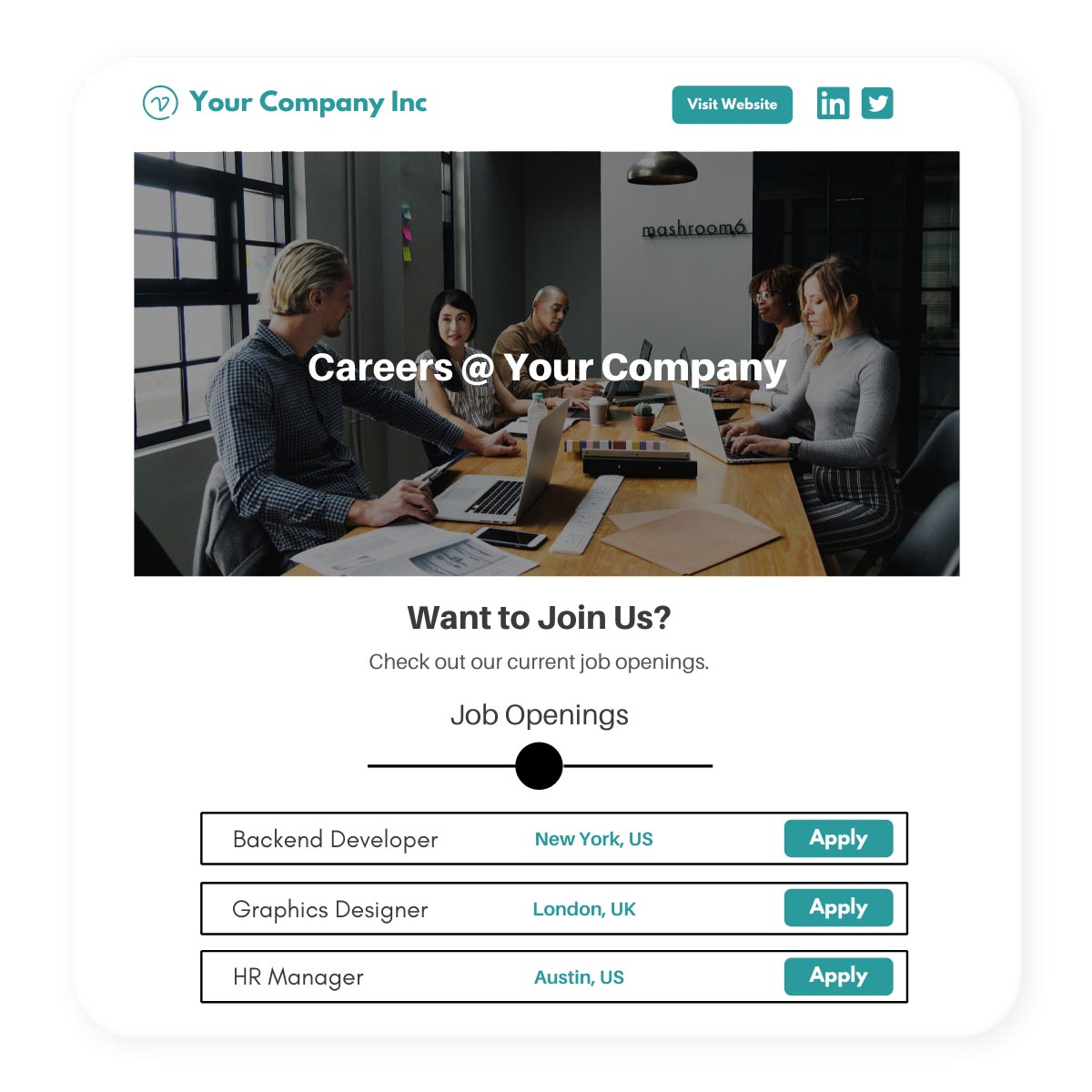 Create free branded careers page